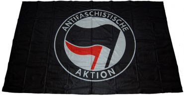 Fahne Antifaschistische Aktion / schwarz-rot 1