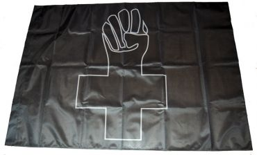 Fahne Anarchist Black Cross