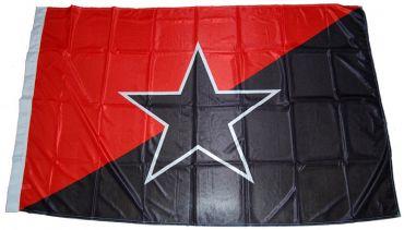 Fahne Schwarz-rote Fahne mit Stern