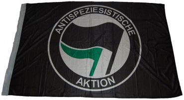 Fahne Antispeziesistische Aktion schwarz