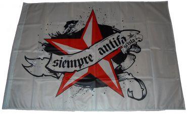 Fahne Siempre Antifa