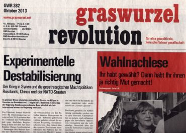 Graswurzelrevolution Nr. 382 (Oktober 2013)