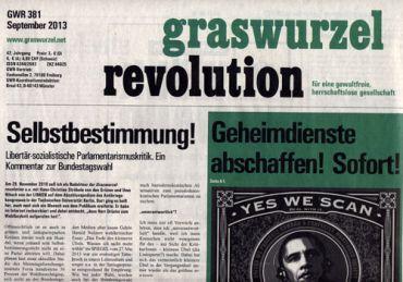 Graswurzelrevolution Nr. 381 (September 2013)