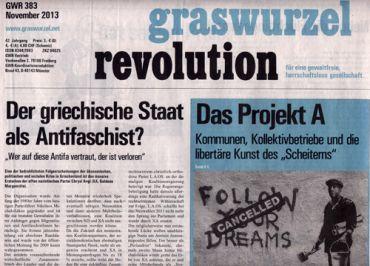 Graswurzelrevolution Nr. 383 (November 2013)