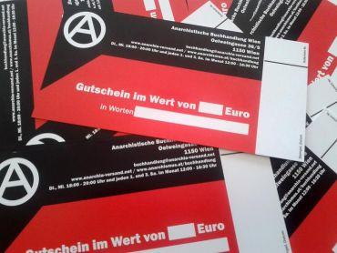20.- Euro Gutschein Anarchistische Buchhandlung Wien