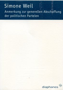 Anmerkung zur generellen Abschaffung der politischen Parteien