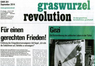 Graswurzelrevolution Nr. 391 (September 2014)