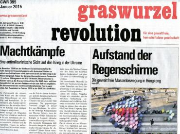 Graswurzelrevolution Nr. 395 (Jänner 2015)