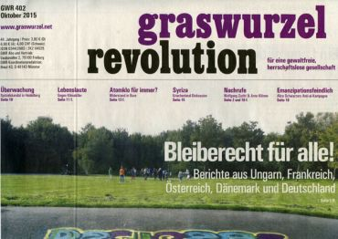Graswurzelrevolution Nr. 402 (Oktober 2015)
