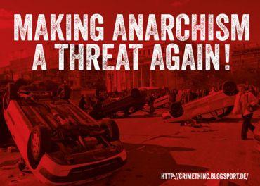 Aufkleber Making anarchism a threat again!