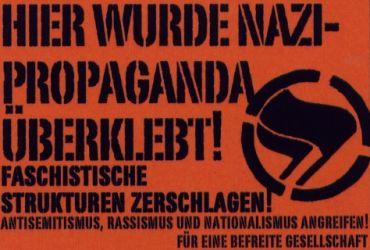 Aufkleber Nazipropaganda