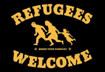 Aufkleber Refugees welcome