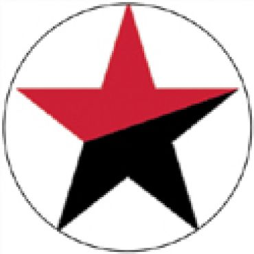 Stern schwarz-rot