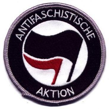 Antifaschistische Aktion schwarz/rot (gestickt)