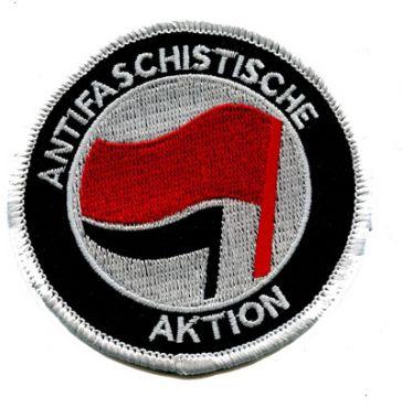 Antifaschistische Aktion rot/schwarz (gestickt)