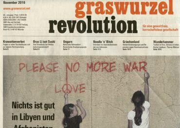 Graswurzelrevolution Nr. 413 (November 2016)