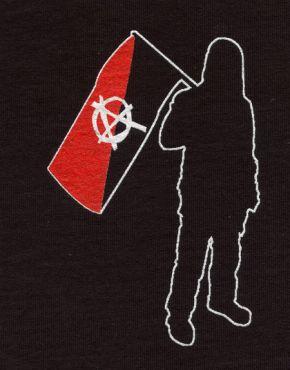 Anarchist mit Fahne