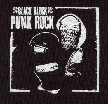 Black block punk rock