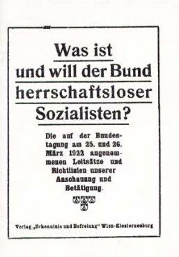 Was ist und will der Bund herrschaftsloser Sozialisten?