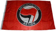 Fahne Antifaschistische Aktion / rot-schwarz