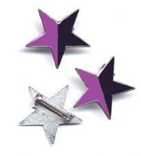 Stern schwarz-violett