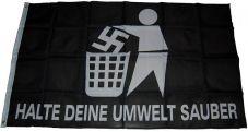 Fahne Halte deine Umwelt sauber