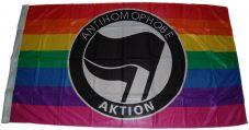 Fahne Antihomophobe Aktion