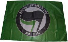 Fahne Antispeziesistische Aktion grün