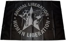 Fahne Animal liberation - human liberation