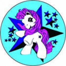 Pony blau