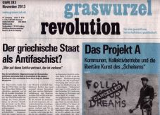 Graswurzelrevolution Nr. 383 (November 2013)