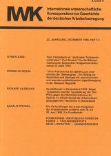 (Antiquariat) IWK-Korrespondenz Heft 4, Dez. 1986 (22. Jg.)