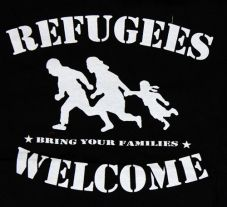 Refugees welcome (Kapuzi)