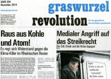 Graswurzelrevolution Nr. 394 (Dezember 2014)