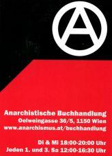 Aufkleber Anarchistische Buchhandlung