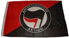 Fahne Antifaschistische Aktion / schwarz-rot 2