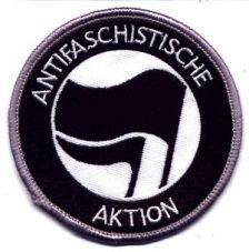 Antifaschistische Aktion schwarz/schwarz (gestickt)