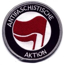 Antifaschistische Aktion rot/rot (gestickt)