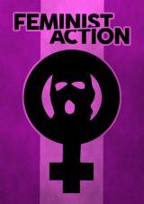 Aufkleber Feminist Action