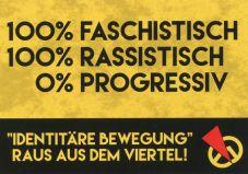 Aufkleber Anti-Identitäre 1 - 100% faschistisch