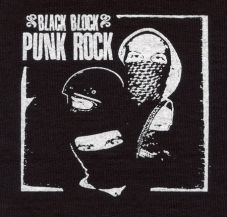 Black block punk rock