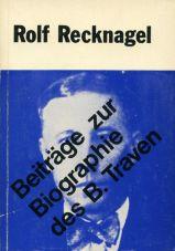 (Antiquariat) Beiträge zur Biographie des B. Traven