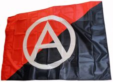 Fahne Anarchie schwarz-rot