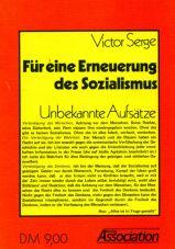 (Antiquariat) Für eine Erneuerung des Sozialismus. Unbekannte Aufsätze