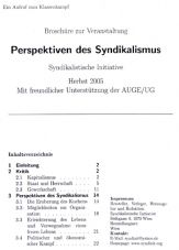 Perspektiven des Syndikalismus